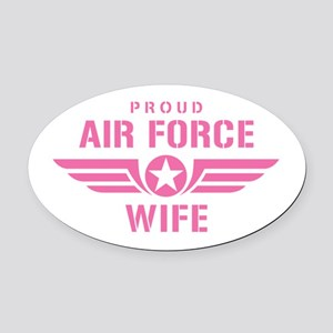 Proud Air Force Wife W [pink] Oval Car Magnet